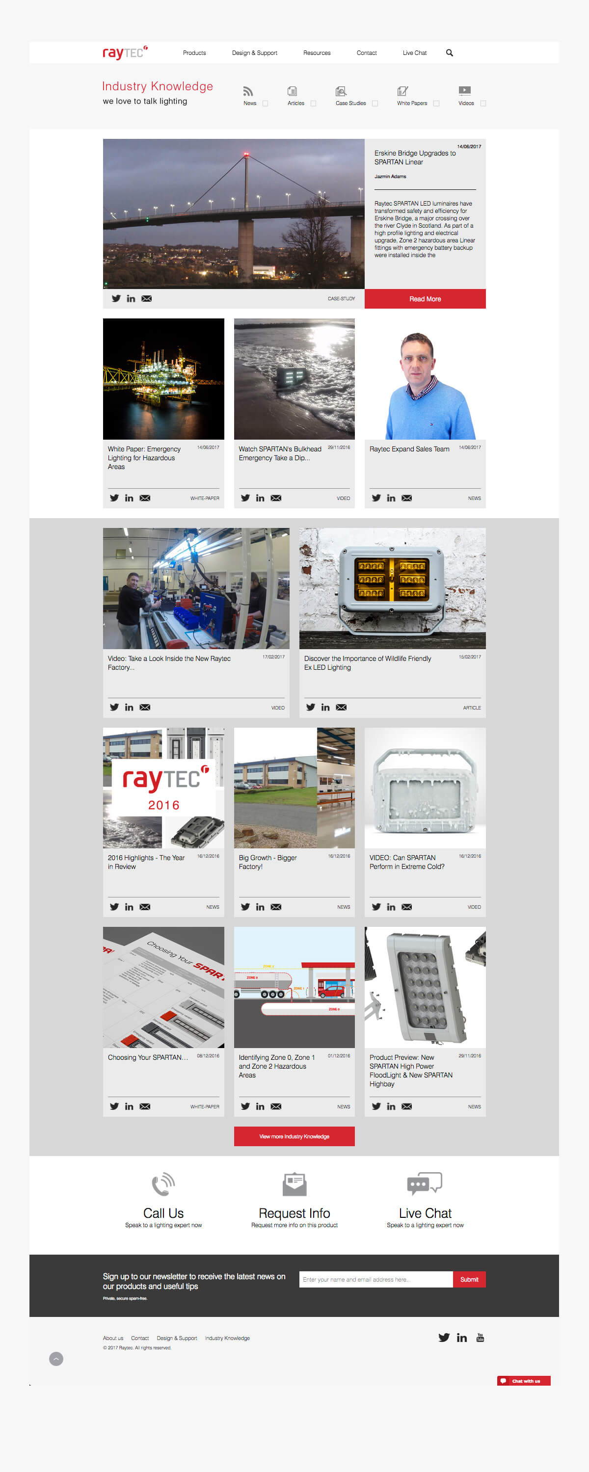 Raytec hazardous site industry knowledge page view