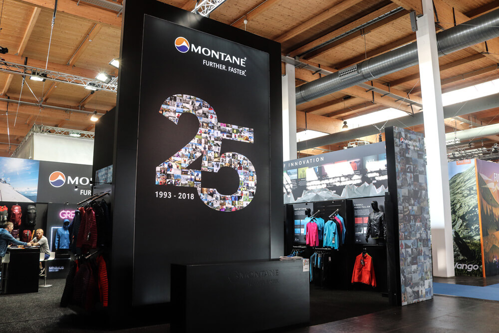 Montane Outdoor 2018 Exhibition stand design